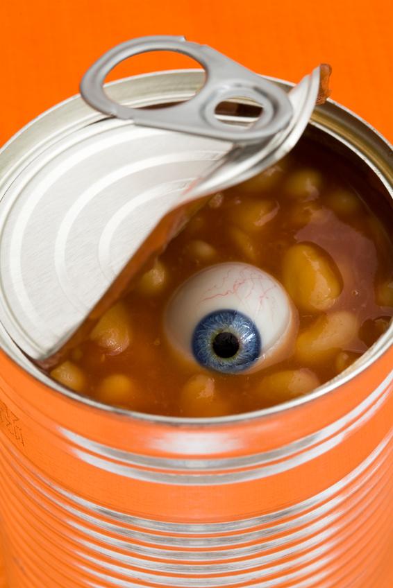 Conceptual image – food safety, food scares, spooky, joke