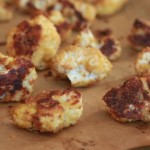 """""""Cheesy"""" Baked Cauliflower Poppers (Dairy-Free)"""