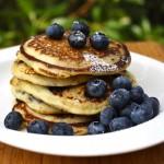 Paleo Banana-Blueberry Pancakes